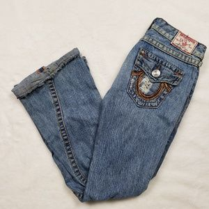 True Religion Joey Big T distressed bootcut jeans!